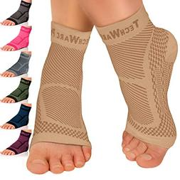 TechWare Pro Ankle Brace Compression Sleeve - Relieves Achil