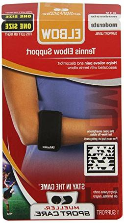 Mueller Tennis Elbow Support, Black, One Size Fits Most