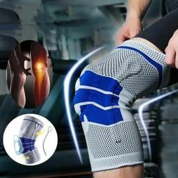 Unisex Sport Knee Support Pad High Compression Silicone Padd
