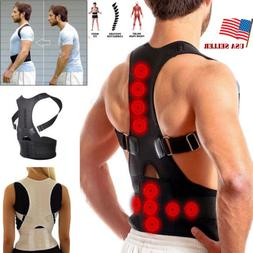 US Posture Corrector Support Magnetic Back Shoulder Brace Be