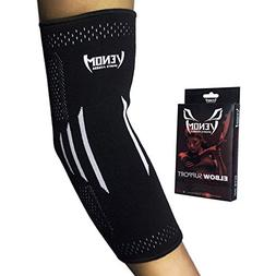 Venom Elbow Brace Compression Sleeve - Elastic Support, Tend