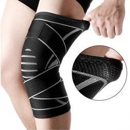 Weaving Knee Sleeve Brace Pad Support Stabilizer Sports Gym