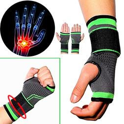 Wrist Brace Compression Hand Support Gloves Arthritis Carpal